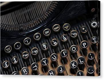 Canvas Print - Typewriter Remembered by Harold E McCray