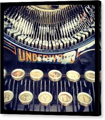 Steampunk Canvas Print - #typewriter #steampunk #writing by Devin Muylle
