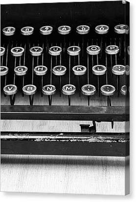 Typewriter Triptych Part 2 Canvas Print by Edward Fielding