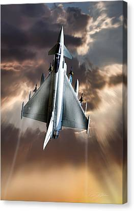 Typhoon Rising Canvas Print by Peter Chilelli