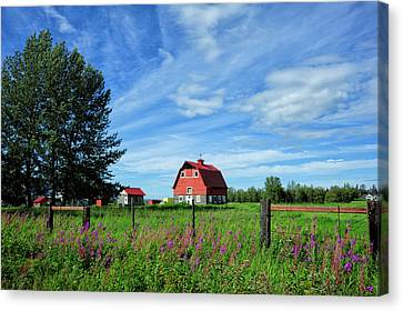 Matanuska Canvas Print - Typical Colony Home In Palmer Area by Sheila Haddad