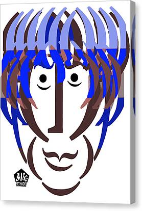 Typortraiture George Harrison Canvas Print by Seth Weaver