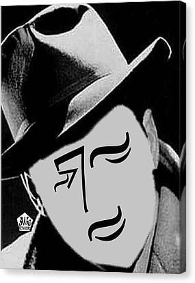 Typortraiture Humphrey Bogart Canvas Print by Seth Weaver