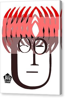 Typortraiture John Lennon Canvas Print by Seth Weaver