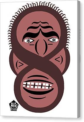 Typortraiture Obama Canvas Print by Seth Weaver