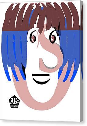 Typortraiture Ringo Starr Canvas Print by Seth Weaver