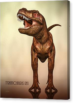 T-rex Canvas Print - Tyrannosaurus Rex 2 by Bob Orsillo
