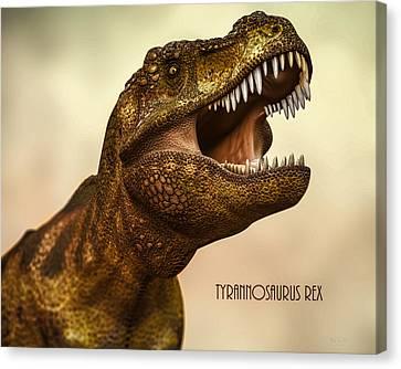 T-rex Canvas Print - Tyrannosaurus Rex 3 by Bob Orsillo