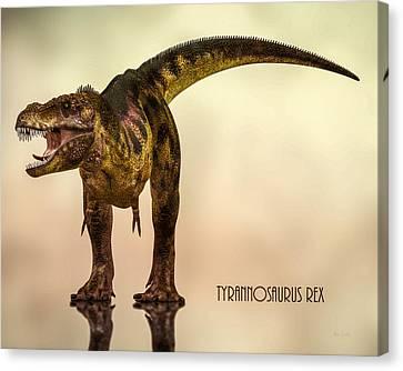 T-rex Canvas Print - Tyrannosaurus Rex Dinosaur  by Bob Orsillo