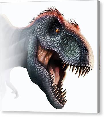 T-rex Canvas Print - Tyrannosaurus Rex Head by Mark Garlick