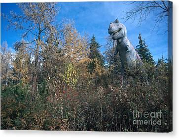 Tyrannosaurus Rex Canvas Print by Mark Newman