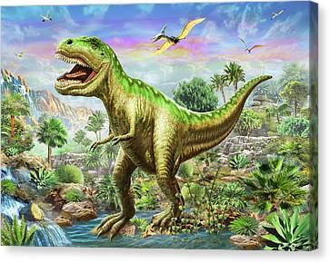 Tyranosaur 3 Canvas Print by Adrian Chesterman