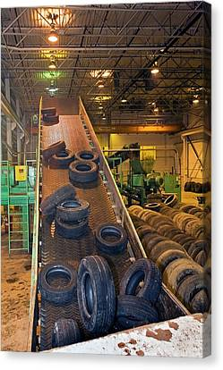 Tyre Recycling Facility Canvas Print by Jim West