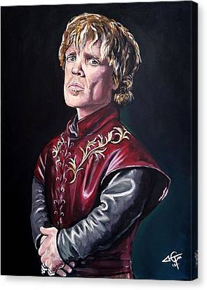Tyrion Lannister Canvas Print by Tom Carlton