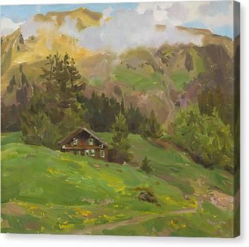 Tyrolean Motive Canvas Print by Victoria Kharchenko