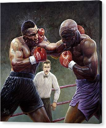 Tyson/holyfield Canvas Print by Gregory Perillo