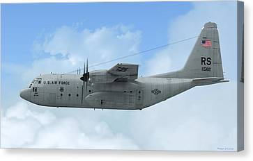 U. S. Air Force C-130 Hercules Canvas Print by Walter Colvin