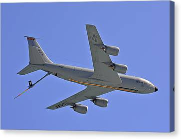 Canvas Print featuring the photograph U S Air Force Flyover by DigiArt Diaries by Vicky B Fuller
