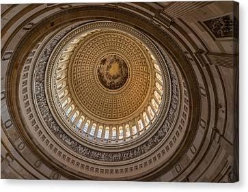 U S Capitol Rotunda Canvas Print by Steve Gadomski