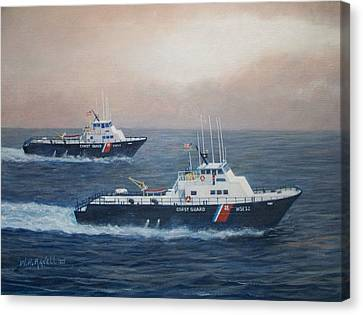 U. S. Coast Guard Surface Effects Ships Sea Sea Hawk And Shearwater  Canvas Print by William H RaVell III
