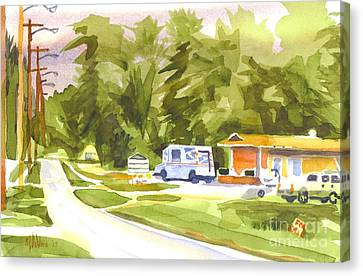 U S Mail Delivery Canvas Print by Kip DeVore