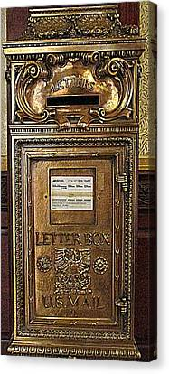 U S Mailbox Gilded Canvas Print by Randall Weidner