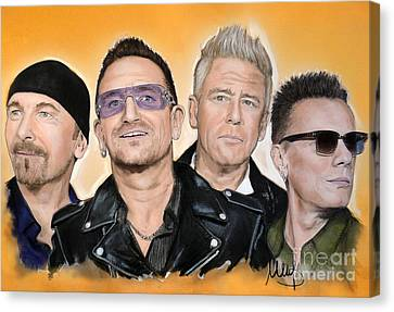 U2 Canvas Print by Melanie D