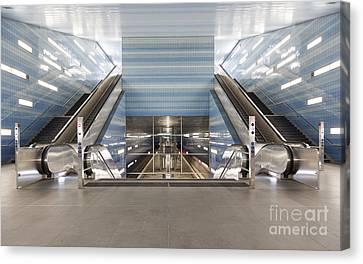 Ubahn Canvas Print - Uberseequartier Subway Station Hamburg by Jannis Werner