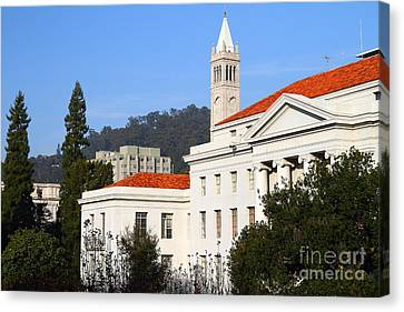 Uc Berkeley . Sproul Plaza . Sproul Hall .  Sather Tower Campanile . 7d10008 Canvas Print by Wingsdomain Art and Photography