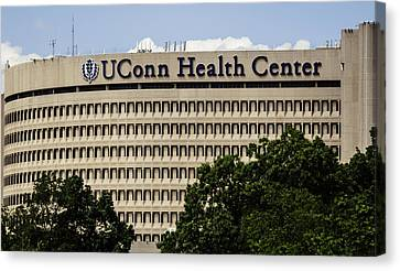 University Of Connecticut Uconn Health Center Canvas Print by Phil Cardamone