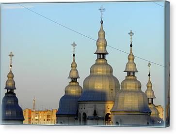 Ucraina..chiesa Canvas Print by Halina Nechyporuk
