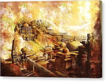 Udaipur Kambalgarh Fort Canvas Print by Catf