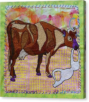 Udder Freedom Canvas Print by Susan Sorrell