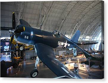 Udvar-hazy Center - Smithsonian National Air And Space Museum Annex - 12122 Canvas Print by DC Photographer