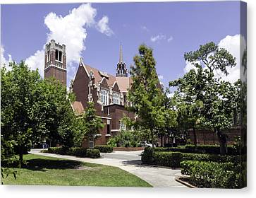 Uf University Auditorium And Century Tower Canvas Print by Lynn Palmer