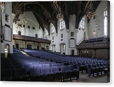 Uf University Auditorium Interior And Seating Canvas Print by Lynn Palmer