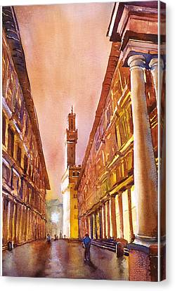 Uffizi- Florence Canvas Print by Ryan Fox