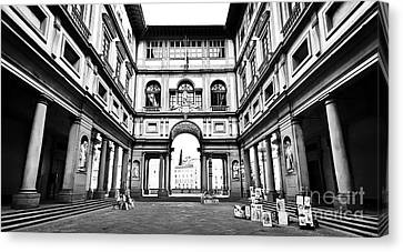 Uffizi Gallery In Florence Canvas Print by JR Photography