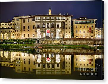 Uffizi Gallery Reflections Canvas Print by George Oze