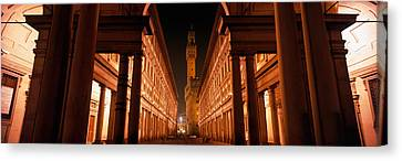 Uffizi Museum, Palace Vecchio Canvas Print by Panoramic Images