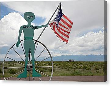 Ufo Watchtower Canvas Print by Jim West