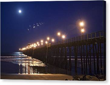 Ufo's Over Oceanside Pier Canvas Print
