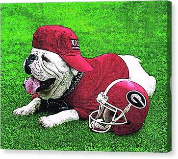 Uga With Helmet T-shirt Canvas Print