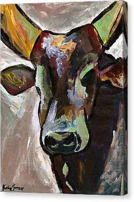 Ugandan Long Horn Cow Canvas Print