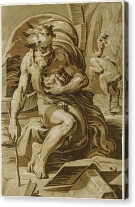 Ugo Da Carpi After Parmigianino Italian Canvas Print