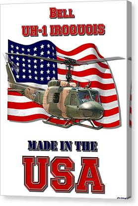 Uh-1 Iroquois Made In The Usa Canvas Print