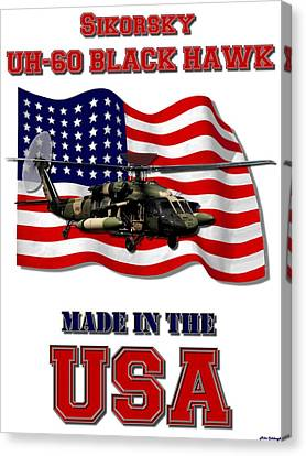 Uh-60 Black Hawk Made In The Usa Canvas Print