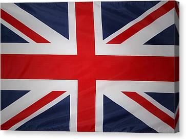 Uk Flag Canvas Print by Les Cunliffe