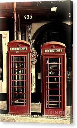 Uk Phone Box Canvas Print