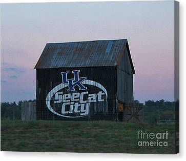 Uk Wildcats Barn Canvas Print by Connie Mueller